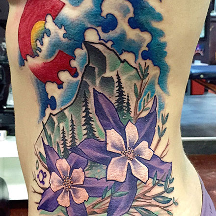 Colorado Mountain Flowers Tattoo