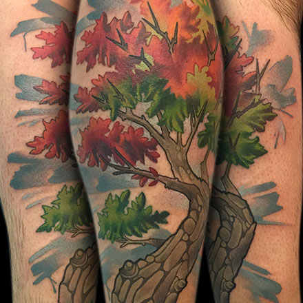 Autumn Tree Tattoo